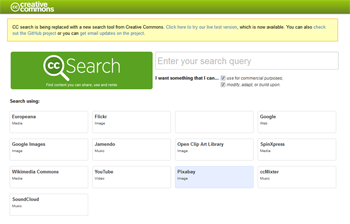 Screenshot, Creative Commons - search for free website graphics!